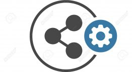 Share icon with settings sign. Share icon and customize, setup, manage, process symbol. Vector icon